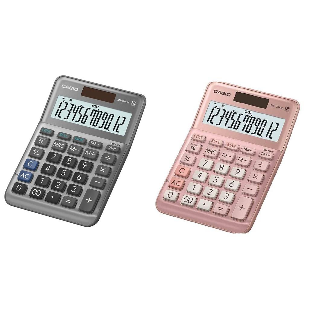 【芥菜籽文具】//CASIO 卡西歐//MS-120FM / 12位數 /迷你桌上型、大型顯示幕、金屬面板、快速輸入