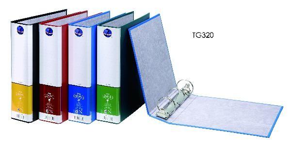 【芥菜籽文具】//同春牌//  環保PP合成紙美式3孔夾  TG320  有耳圓型3孔 (12個/箱)