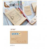 【芥菜籽文具】//鶴屋// 牛皮紙可再貼便條紙61214