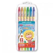 【芥菜籽文具】//雄獅//奶油獅12色水性旋轉色鉛筆CP-611~~內贈水彩筆乙支~~