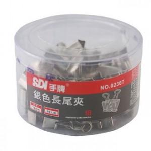 【芥菜籽文具】//SDI 手牌文具 //19mm銀色長尾夾0236T(60支/筒)4711734023628