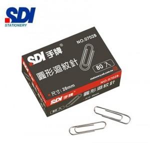 【芥菜籽文具】//SDI 手牌文具 // NO.0702B 圓型迴紋針 (28mm)(10小盒/中盒) 4711734070233