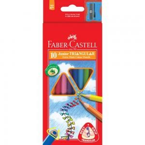 【芥菜籽文具】//FABER-CASTELL 輝柏//大三角彩色鉛筆16-116538-10 (3.3mm) 10色