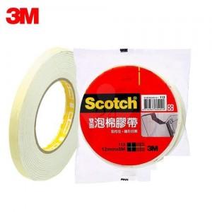 【芥菜籽文具】//3M SCOTCH // 113 雙面泡棉膠帶系列 12MM×5M (24捲/盒) 4710367604705