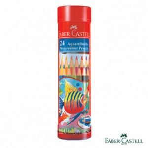 【芥菜籽文具】//FABER-CASTELL 輝柏//  紅色系 兒童水性彩色鉛筆 棒棒筒裝 24色  115924