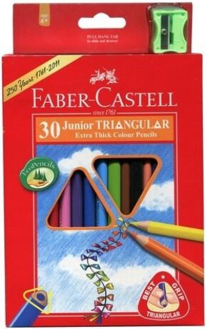【芥菜籽文具】//FABER-CASTELL 輝柏//大三角彩色鉛筆16-116538-30 (3.3mm) 30色