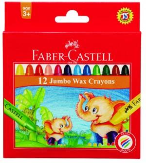 【芥菜籽文具】//FABER-CASTELL 輝柏// 大象粗芯蠟筆12色 120040