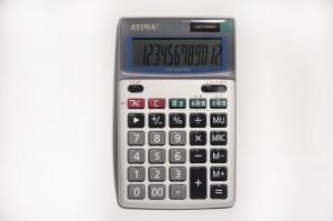【芥菜籽文具】//ATIMA//JA-120T/12位元數/ 雙電源/ 稅率計算/ 快速計算IC