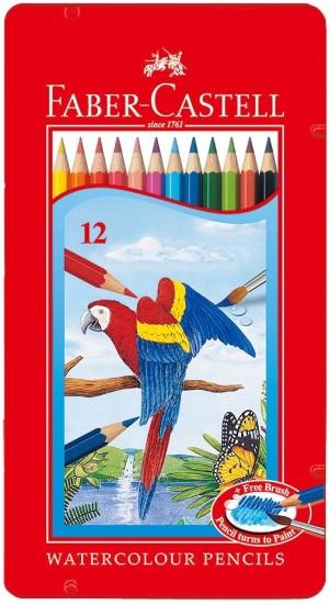 【芥菜籽文具】//Faber-Castell 輝柏//水性鐵盒色鉛筆 12色 115913