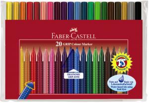【芥菜籽文具】//FABER-CASTELL 輝柏// 握得住抗壓三角筆桿彩色筆 20色 155320