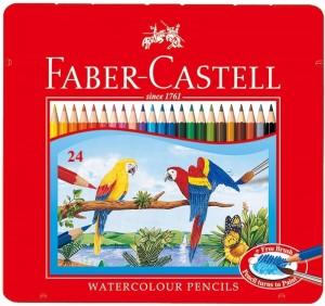 【芥菜籽文具】//Faber-Castell 輝柏//水性鐵盒色鉛筆 24色 115925