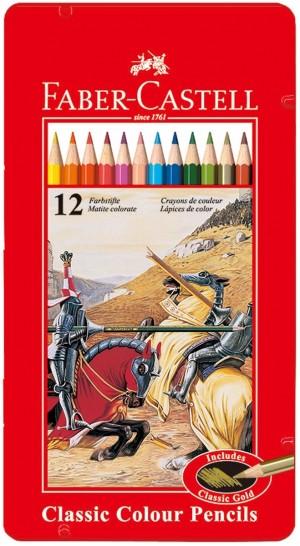 【芥菜籽文具】//Faber-Castell 輝柏//油性鐵盒色鉛筆 12色 115844