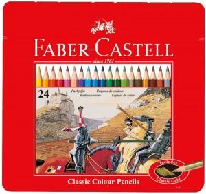 【芥菜籽文具】//Faber-Castell 輝柏//油性鐵盒色鉛筆 24色 115845