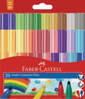 【芥菜籽文具】//FABER-CASTELL 輝柏// JUMBO 20色連接筆 66-2000-20