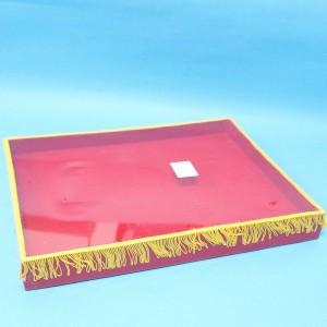 【芥菜籽文具】剪綵托盤、絨布托盤(加穗) 38*29*3.5cm