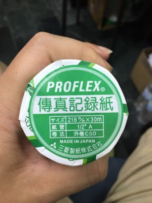 【芥菜籽文具】MISHIMA 傳真紙、感熱紙 216mmX30M (足30米) 12支/箱