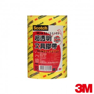 【芥菜籽文具】//3M Scotch//超透明OPP文具膠帶(500S/502S) 24mm×40Y(6捲/筒)