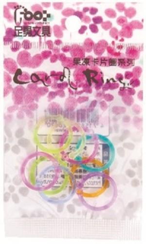【芥菜籽文具】//足勇文具// 卡片圈系列/ NO.52051 吊袋塑膠卡片圈 1/2 吋