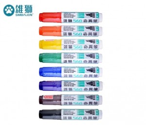 【芥菜籽文具】//雄獅// NO.560 雄獅奇異筆 (12mm大斜筆尖) 6支/盒
