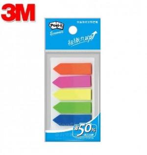 【芥菜籽文具】//3M POST-IT //  非抽取式箭頭標籤 584-5 (5色 / 包) 4710367281689