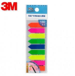 【芥菜籽文具】//3M POST-IT //  非抽取式箭頭標籤 584-9 (9色 / 包) 4710367836414