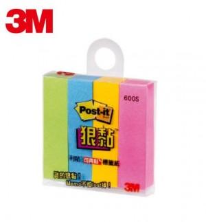 【芥菜籽文具】//3M POST-IT 狠黏可再貼利貼便條紙 #600S  4本/1包 4710367606871