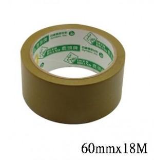 【芥菜籽文具】//四維鹿頭牌 // PVC可撕式封箱膠帶 60mm*18M (120捲/箱)