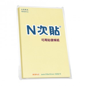 【芥菜籽文具】//鶴屋實業// 標準型可再貼便條紙 61133  6*4