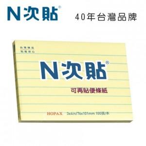【芥菜籽文具】//鶴屋實業// 格線型可再貼便條紙 61713  3*4