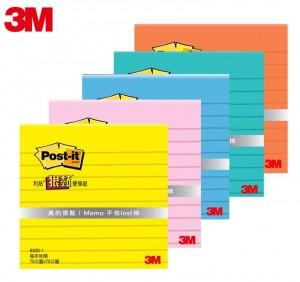 """【芥菜籽文具】//3M POST-IT// 狠黏橫格便條紙系列 630S (3*3"""")"""
