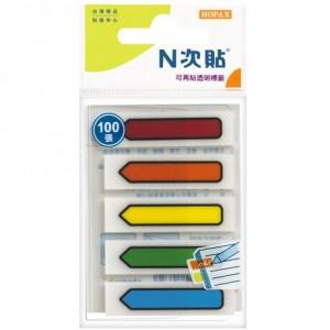 【芥菜籽文具】//鶴屋實業// N次貼系列 66509 可再貼標籤(透明型) 5色