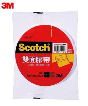 【芥菜籽文具】3M SCOTCH // 668 雙面膠帶系列 12MM×15Y (24捲/盒) 4710367604013