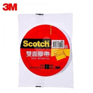 【芥菜籽文具】3M SCOTCH // 668 雙面膠帶系列 24MM×15Y (12捲/盒) 4710367604037