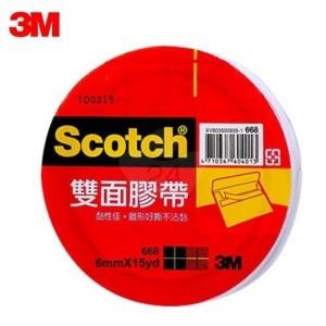 【芥菜籽文具】3M SCOTCH // 668 雙面膠帶系列 6mm×15Y (48捲/盒) 4710367604006