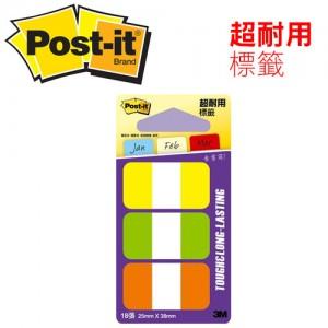 【芥菜籽文具】3M POST-IT 超厚材質耐用指示標籤 686-YGO 25X38MM 4710367340201
