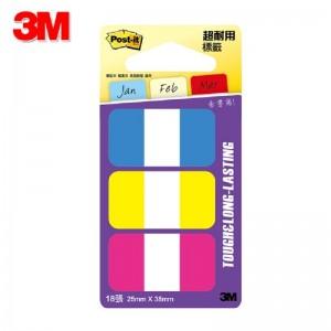 【芥菜籽文具】3M POST-IT 超厚材質耐用指示標籤 686-YPB 25x38mm 4710367340096