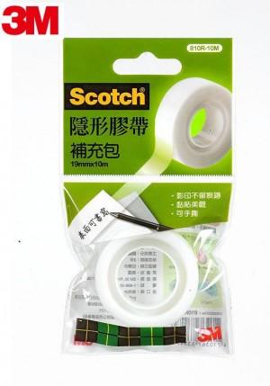 【芥菜籽文具】3M SCOTCH // 810 隱形膠帶系列補充包 810R-10M (1捲 / 包) 4710367835479