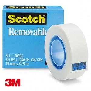 【芥菜籽文具】3M SCOTCH // 811 可再貼隱形膠帶 (19mm*32.9M) 4710367941606