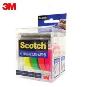 【芥菜籽文具】3M SCOTCH 可在貼螢光標示膠帶台 NO.812 (4色 / 組) 4710367273806