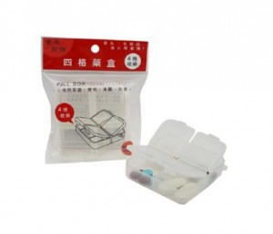【芥菜籽文具】//台灣聯合文具 WIP //四格藥盒LPB1540 4718055015400
