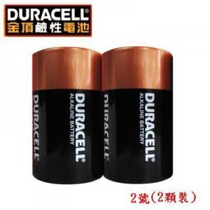 【芥菜籽文具】DURACELL 金頂 2號鹼性電池--2號  (2顆裝/卡)
