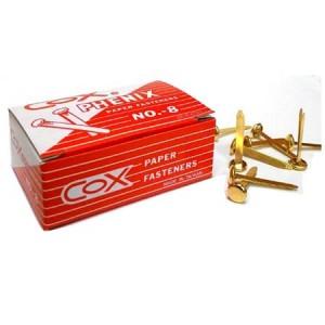 【芥菜籽文具】//三燕COX// 2.5公分雙腳釘 //  NO.8 (10小盒/組)