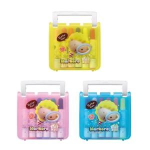 【芥菜籽文具】//雄獅// BLM-12B奶油獅12色彩色筆(B盒)-閃亮亮