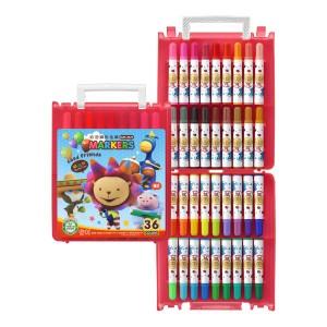 【芥菜籽文具】//雄獅// BLM-36B奶油獅36色彩色筆(B盒)-閃亮亮