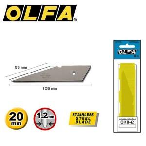 【芥菜籽文具】//OLFA//不鏽鋼工藝刀刀片CKB-2(2片/盒)