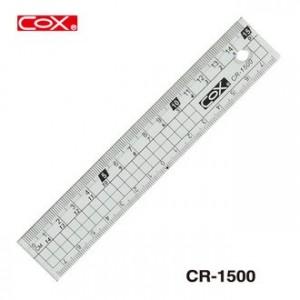 【芥菜籽文具】//三燕 COX// 壓克力直尺 塑膠直尺 CR-1500 (15CM)