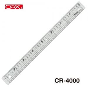 【芥菜籽文具】//三燕 COX// 壓克力直尺 塑膠直尺 CR-4000 (40CM)