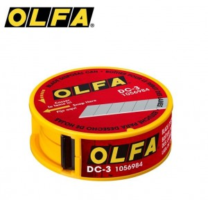 【芥菜籽文具】//OLFA// 拋棄式安全刀片收藏盒DC-3型