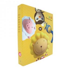 【芥菜籽文具】//同春牌//  奶油獅學習檔案夾 (圓型3孔夾) F8804 (12入/1箱)