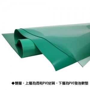 【芥菜籽文具】舒美桌墊組(雙層) (透明綠/透明白) 60*90cm